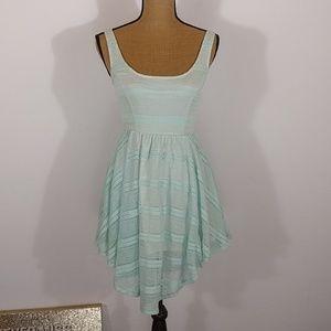 Love, Fire Lace Overlay Back Cutout Dress Sz XS